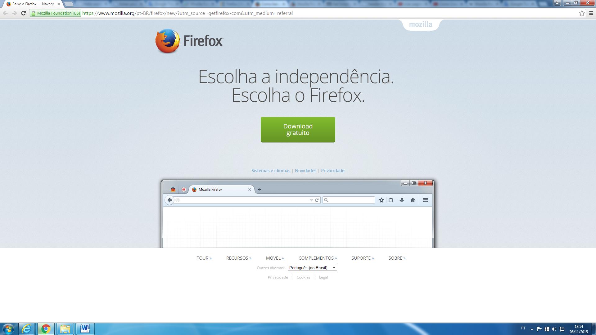 o navegador mozilla firefox no baixaki