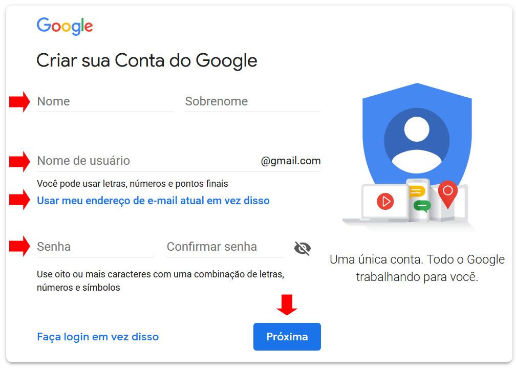 Como Criar Uma Conta Do Google